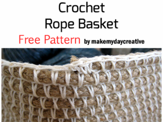 Crochet Rope Basket - Free Pattern