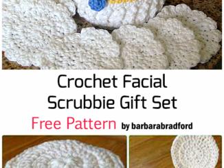 Crochet Facial Scrubbie Gift Set - Free Pattern