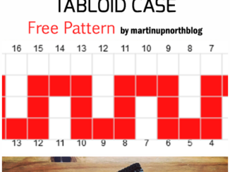 Crochet Mosaic Tabloid Case - Free Pattern
