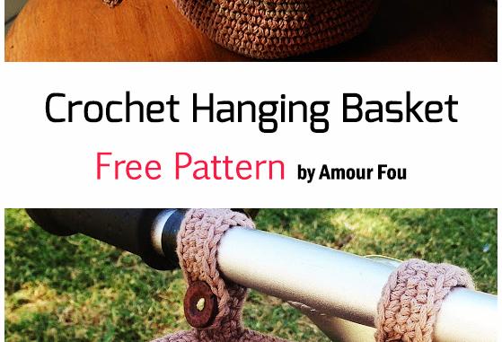 Crochet Hanging Basket - Free Pattern