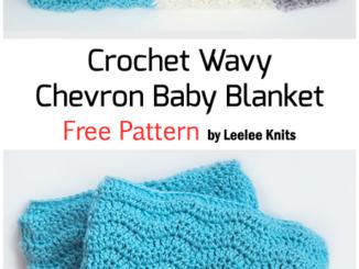 Crochet Wavy Chevron Stitch Baby Blanket - Free Pattern