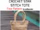 Crochet Star Stitch Tote - Free Pattern