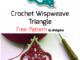 Crochet Wispweave Triangle - Free Pattern