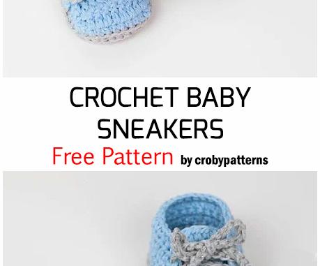 Crochet Baby Sneakers - Free Pattern