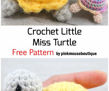 Crochet Little Miss Turtle - Free Pattern