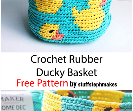 Crochet Rubber Ducky Basket - Free Pattern