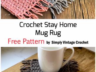 Crochet Stay Home Mug Rug - Free Pattern