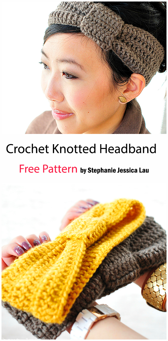 Crochet Knotted Headband - Free Pattern
