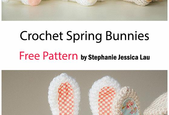 Crochet Spring Bunnies - Free Pattern